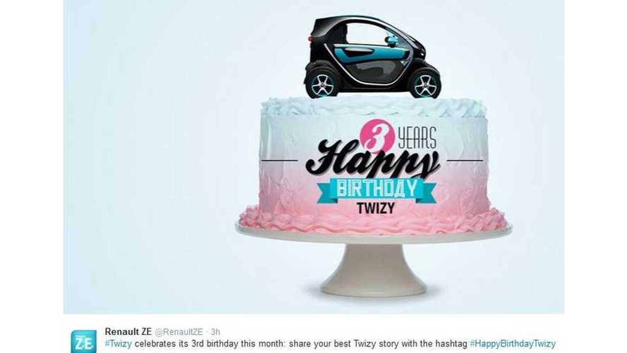 Renault Twizy Turns Three