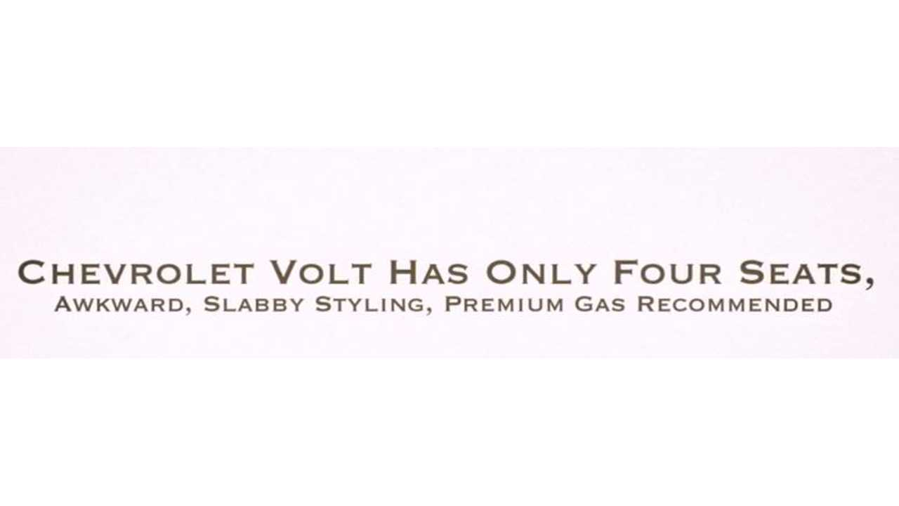 Hmm...Not How We'd Describe The Volt