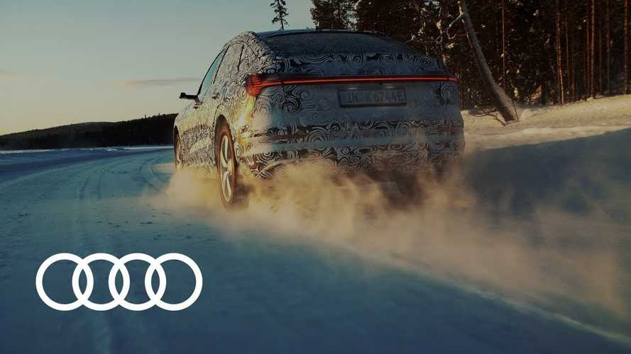 Audi Teases E-Tron Sportback Prototype Testing In Finland: Video