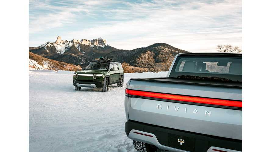 Check Out This Rivian R1T Electric Truck & R1S SUV Family Photo