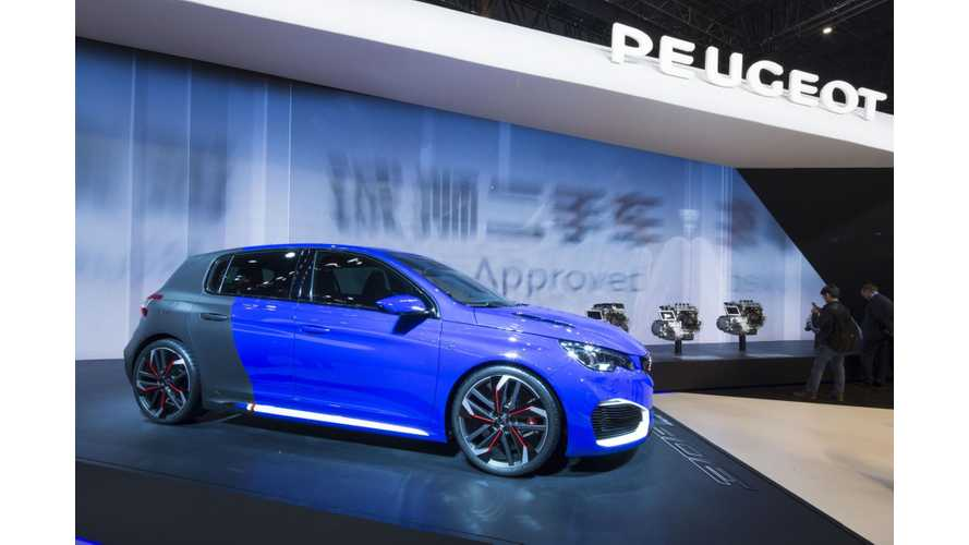 Peugeot 308 R HYbrid At 2015 Auto Shanghai - Photos & Videos