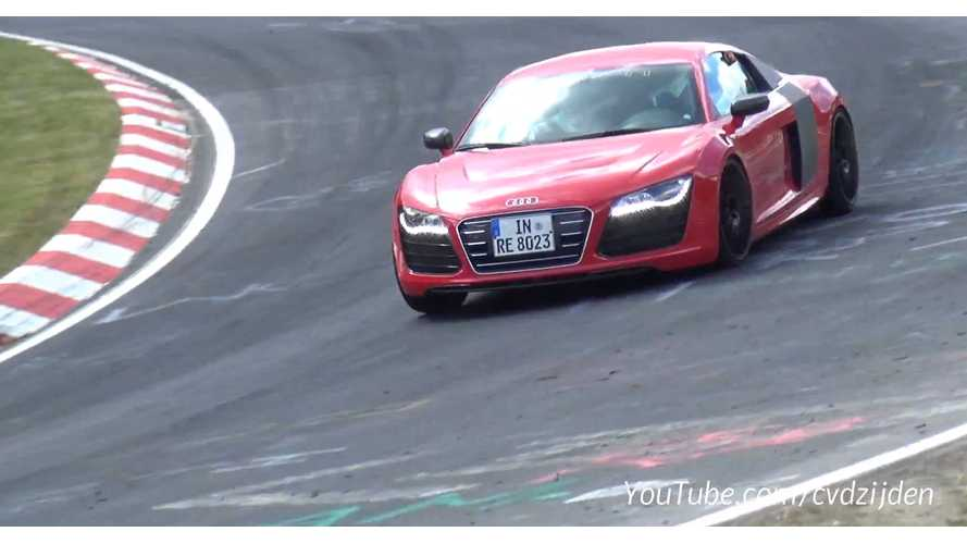 Audi R8 e-tron Laps Nurburgring - Video