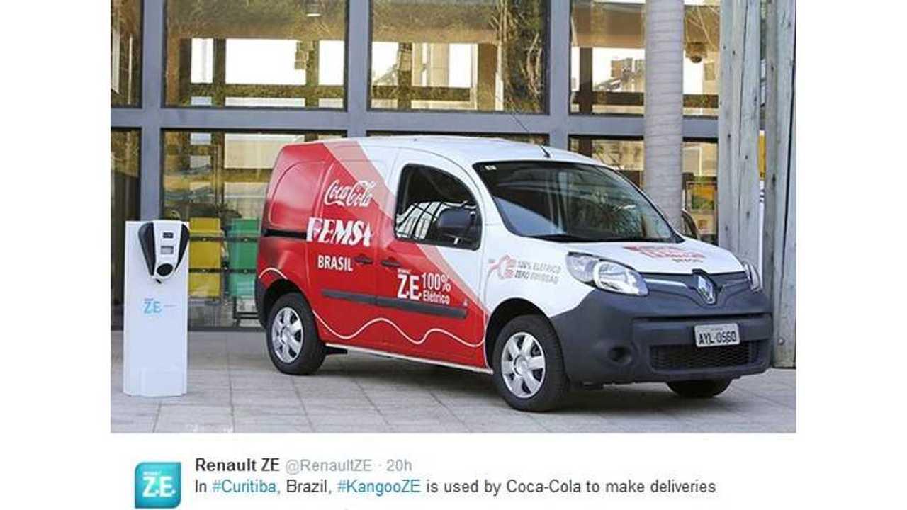 In Brazil, Renault Kangoo Z.E. Delivers Coca-Cola