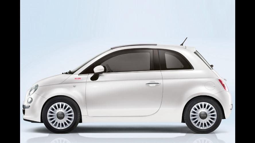 Fiat Cinquecento: Weißes Sondermodell für TV-Fans