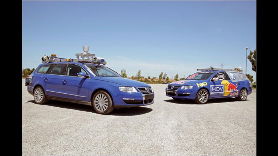 VW Passat fährt ohne Fahrer: Schafft er es durch die Stadt?