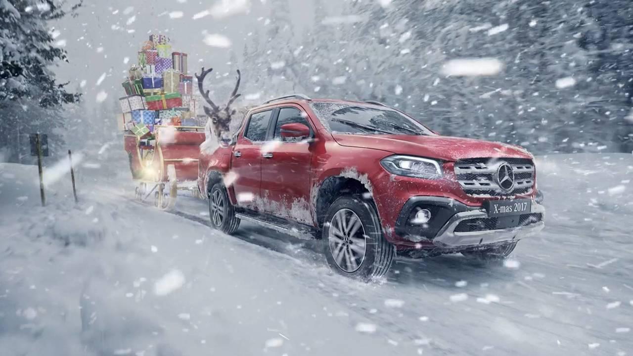 Mercedes karácsonyi üdvözlet