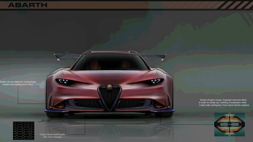 Alfa Romeo 8C Competizione'nin halefine tasarım yorumu