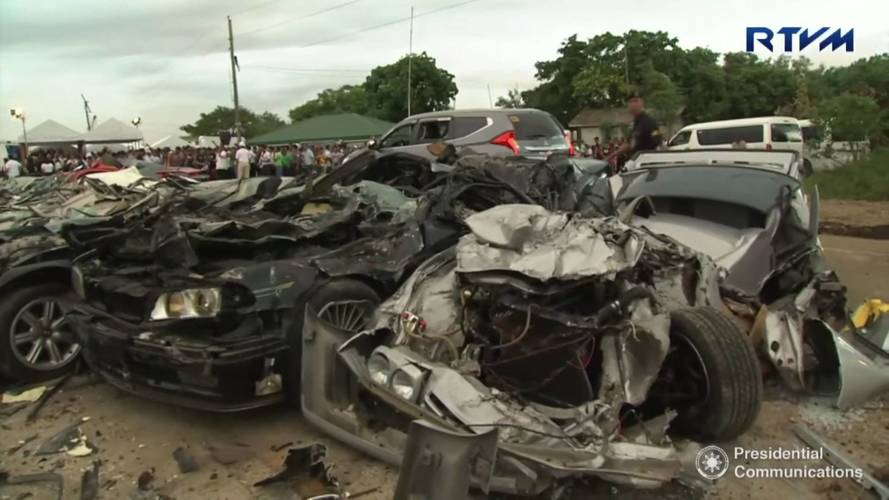 Illegally Imported Cars Crushed By The Philippines
