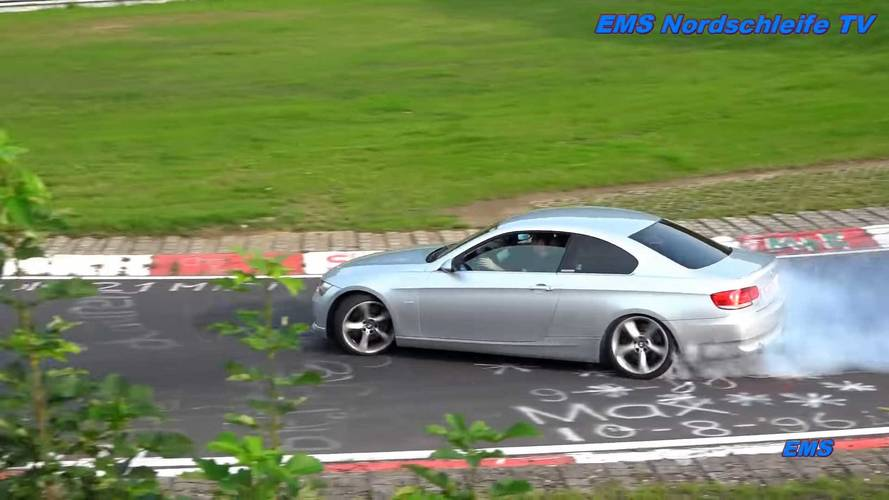 Nürburgring'de drift yapmak yasak ama bunu dinlemeyenler de var