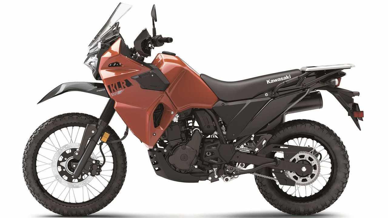 2022 Kawasaki KLR 650, Studio, Red, Profile, Left