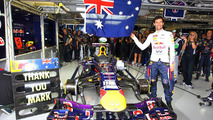 Mark Webber celebrates last GP 24.11.2013 Brazilian Grand Prix