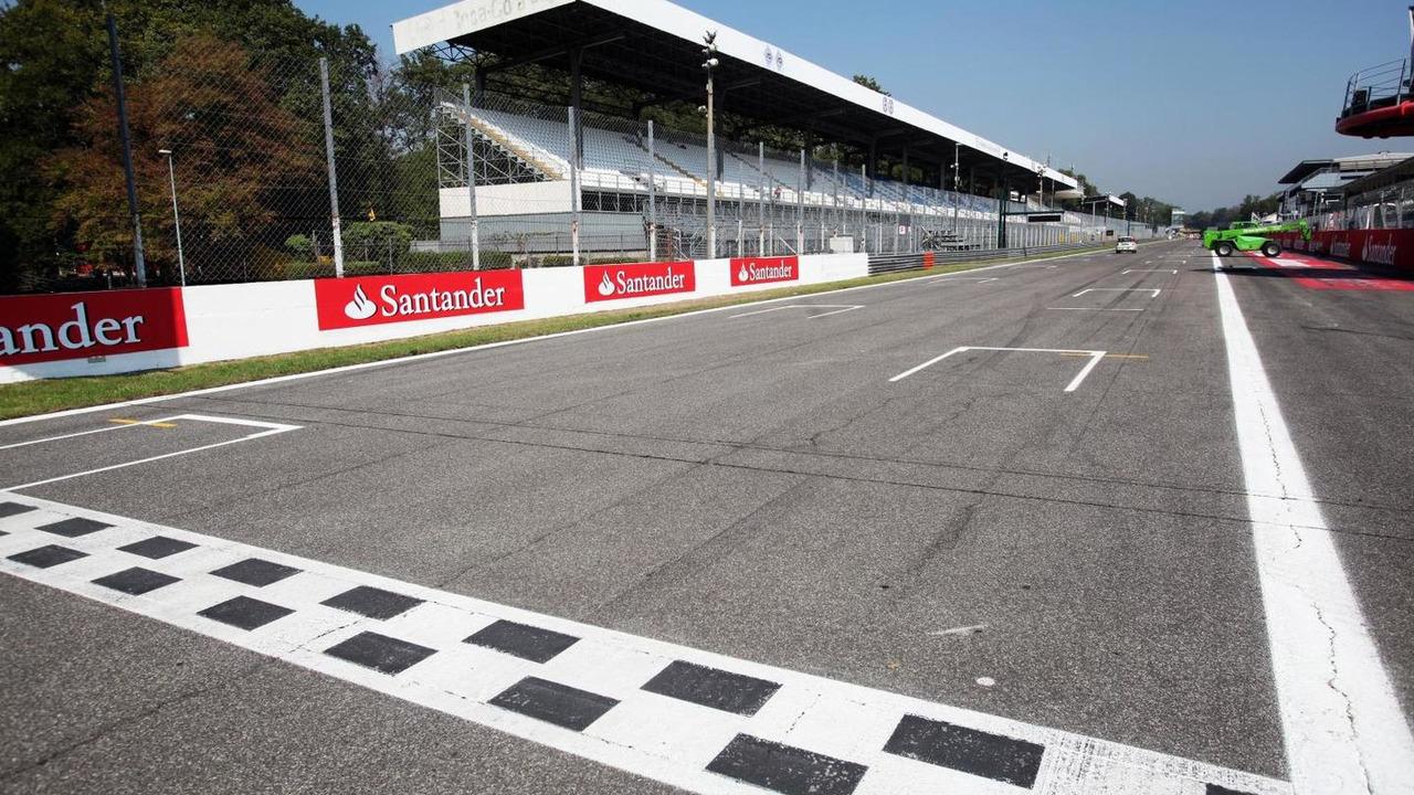 The finish line  Italian Grand Prix, Monza, Italy | Motor1