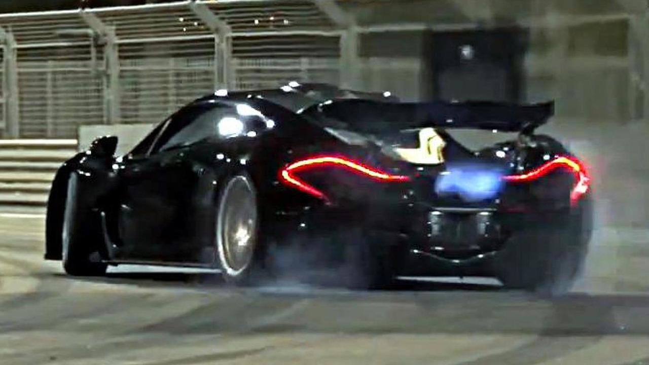 McLaren P1 at Yas Marina track