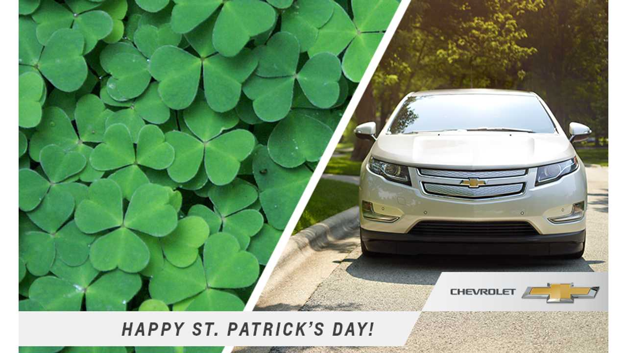 The Chevrolet Volt Didn't Do A Lot Of St. Patty's Day Celebrating This Month.
