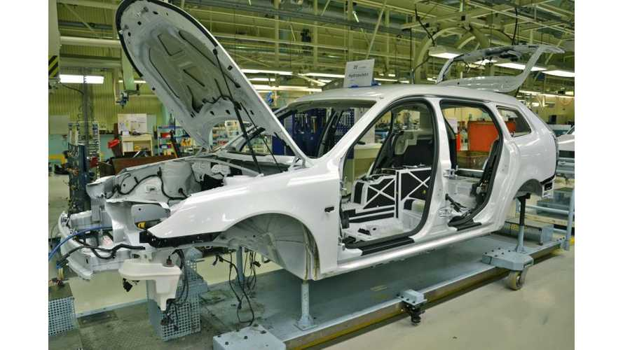 NEVS Begins Production of Electric Saab 9-3 - First 200 Units To Be Delivered By Summer