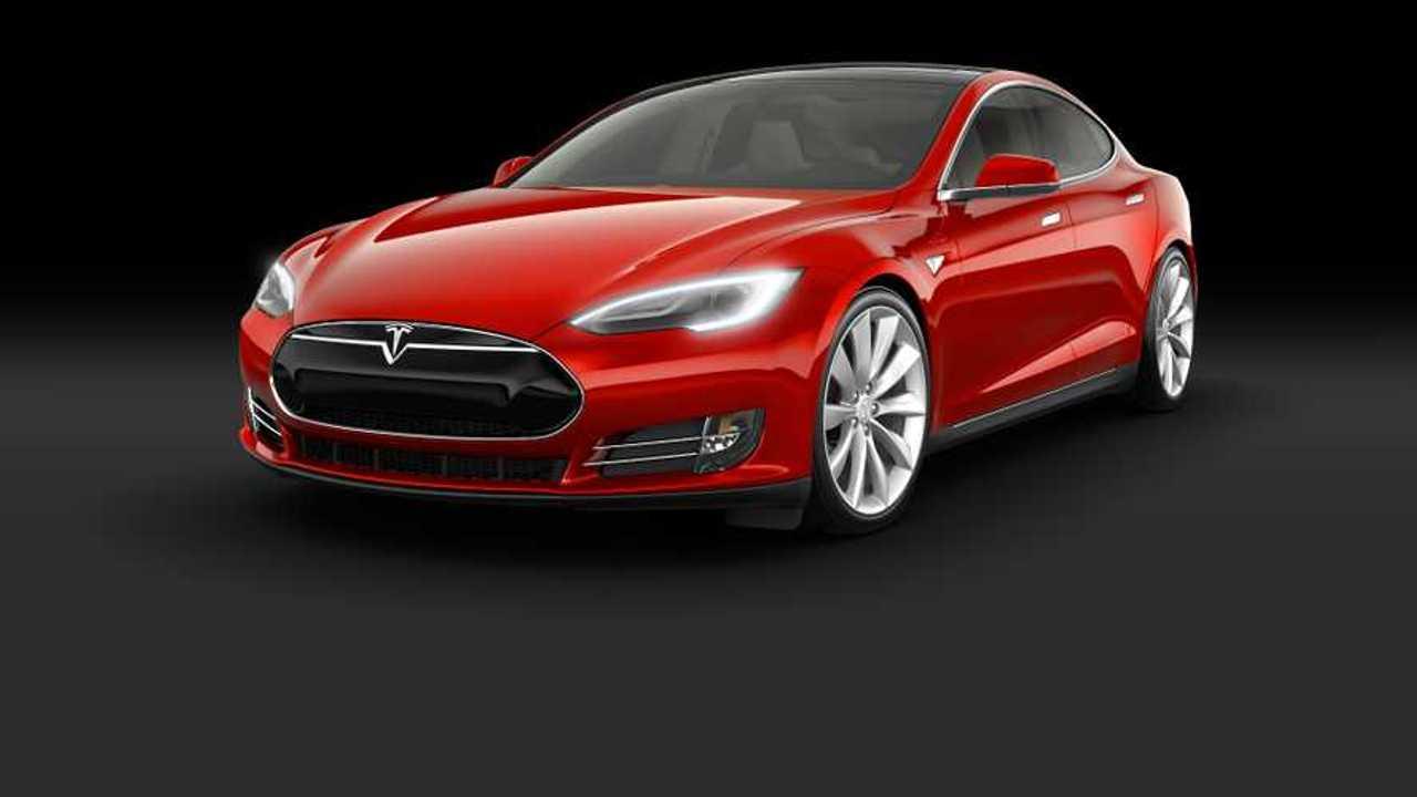 tesla model s red 2