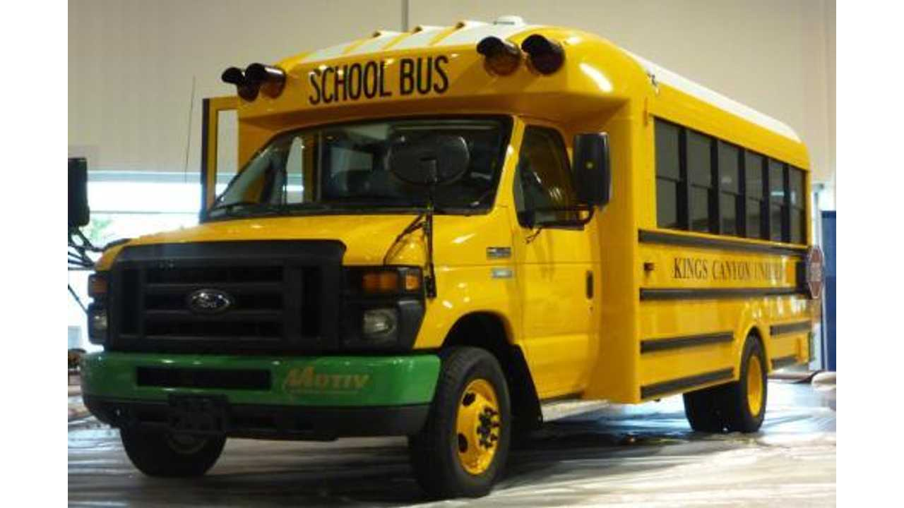 This Electric School Bus Can Save $11,000 in Fuel Costs Annually