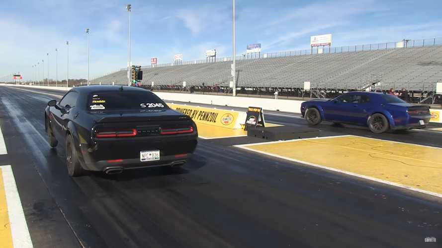 Dodge Demon Drag Races SRT Hellcat Redeye; America Wins