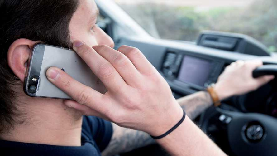 More than half of van drivers still use phones behind the wheel