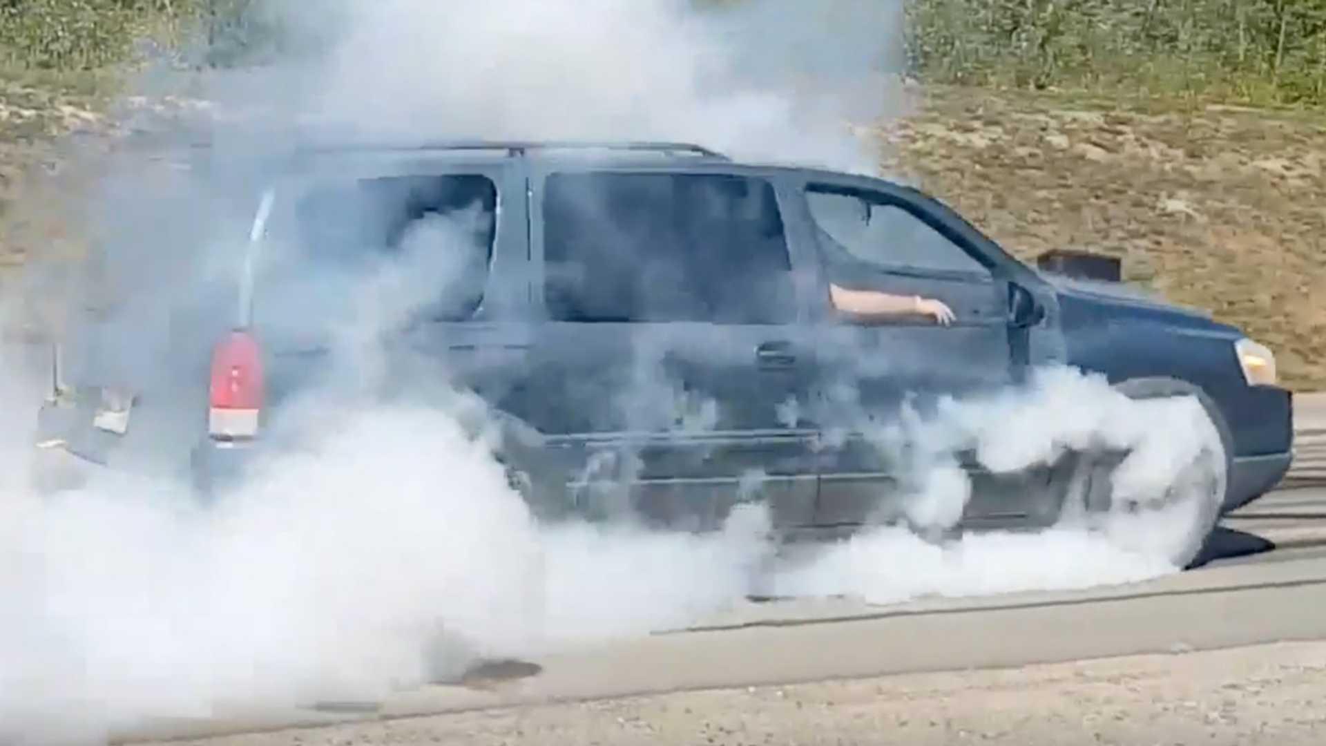 Canada Man Swaps LS V8 Into Pontiac Montana Minivan