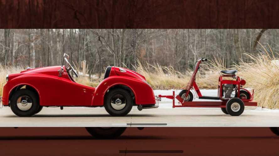Cushman Tiny Car And Scooter