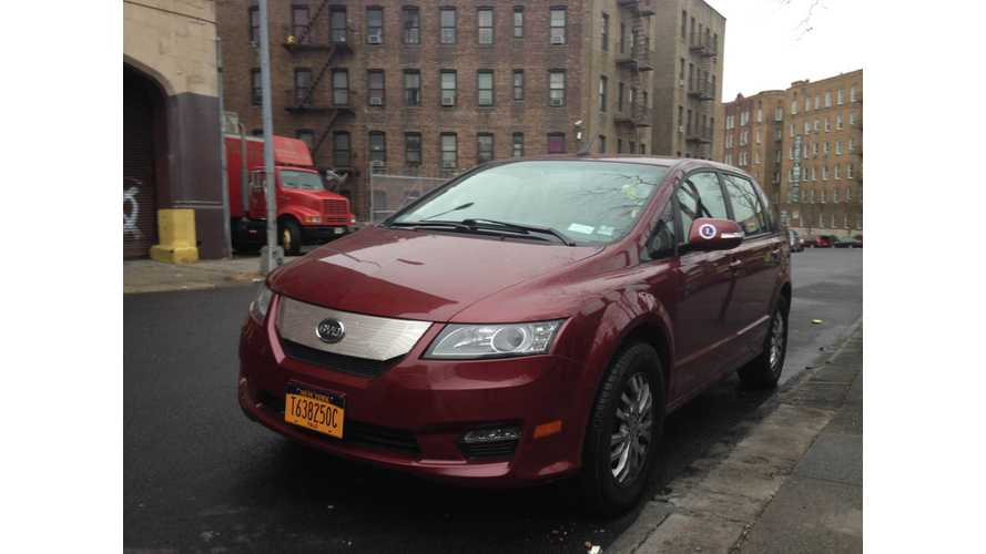 First Licensed BYD e6 Taxi Shows Up in New York