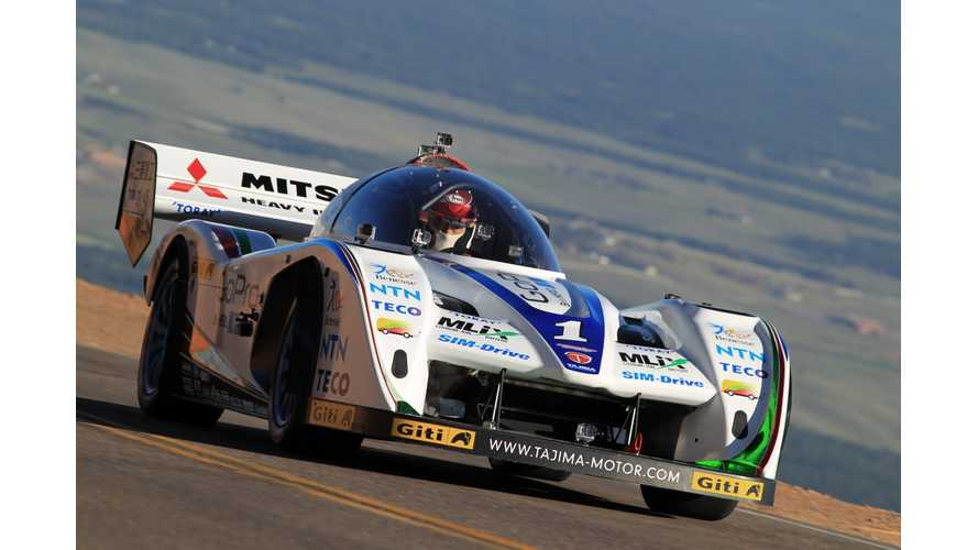 "Nobuhiro ""Monster"" Tajima's E-RUNNER Wins in Electric Class at 2013 Pikes Peak International Hill Climb; Places 5th Overall (w/v"
