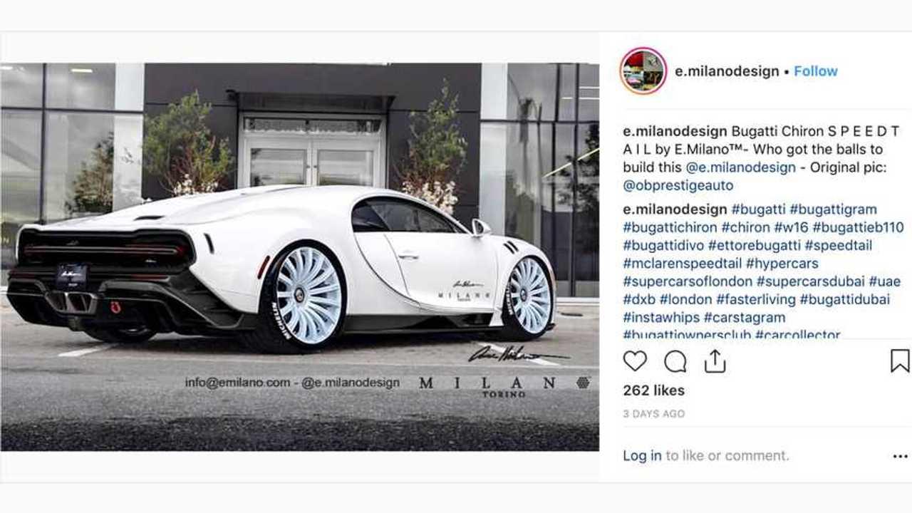 Bugatti Chiron Longtail Render