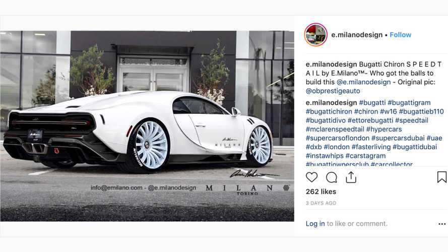 Bugatti's £13.9 million hypercar rendered as longtail Chiron