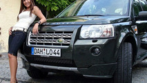 German playmate Daniela Vidas with Loder1899 Land Rover Freelander 2