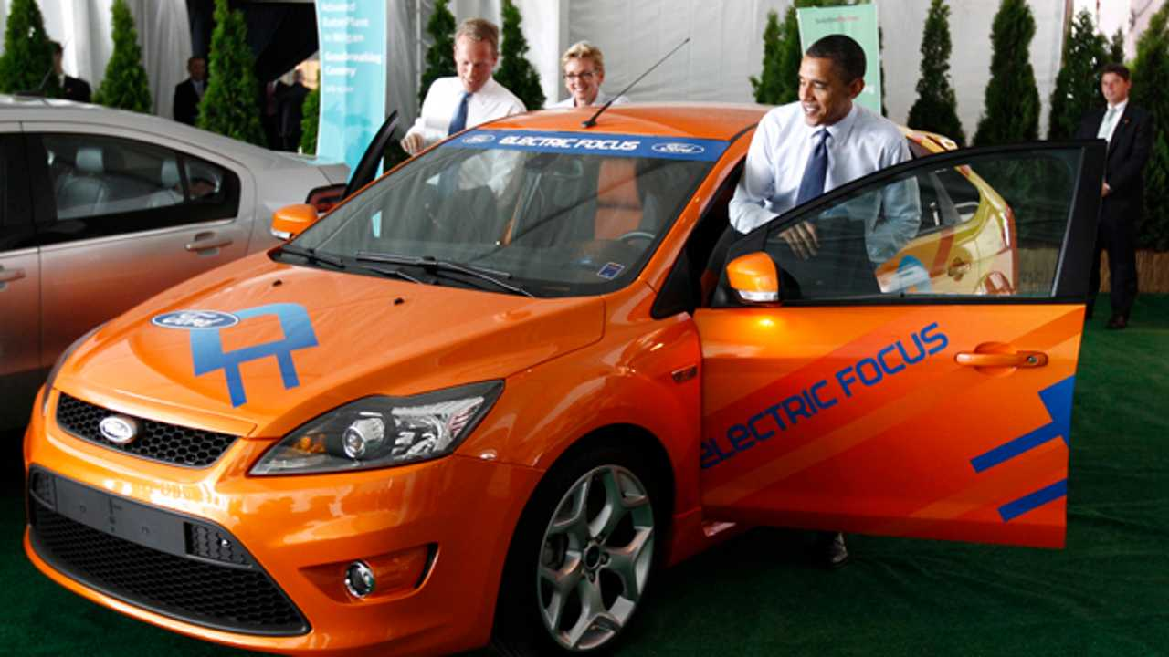 President Obama gets into an electric Ford Focus Electric In July OF 2010. Federal EV Programs Made This Plug-In A Reality