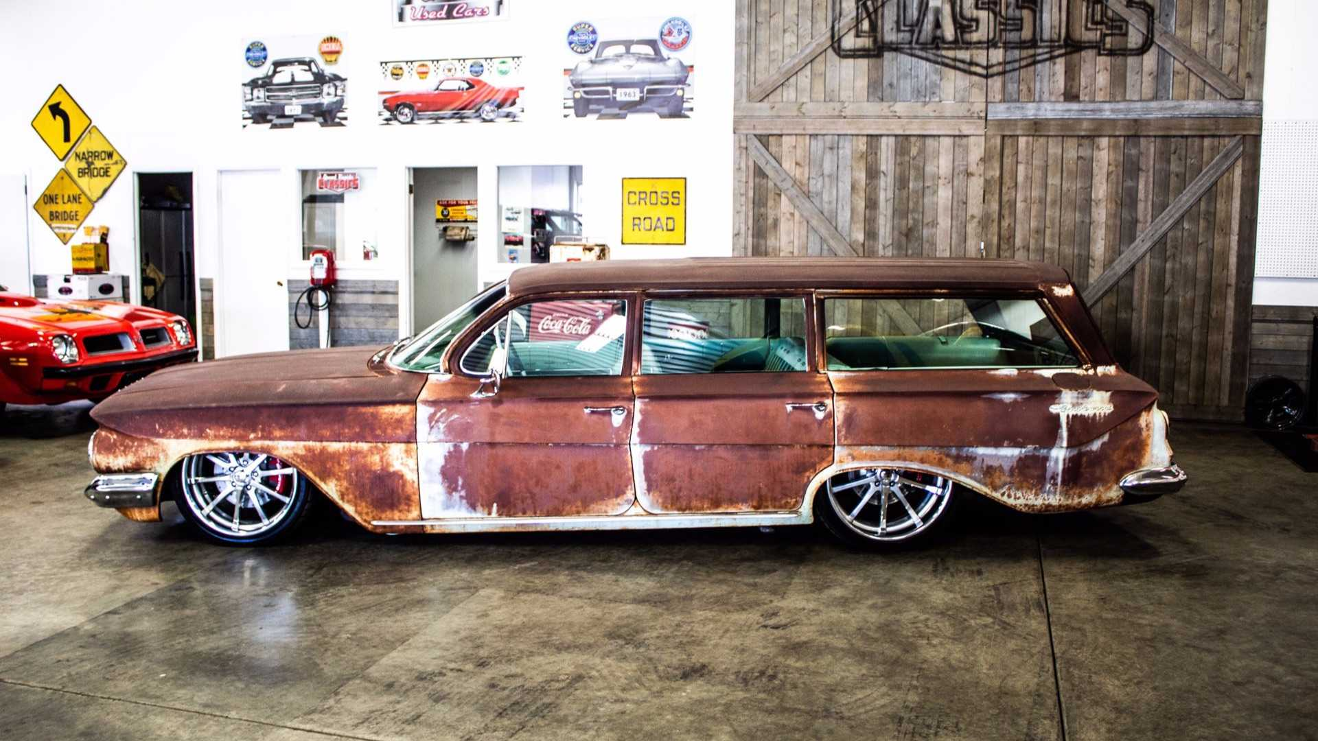 "[""Patina Clad 1961 Brookwood Wagon Has Modern Power""]"