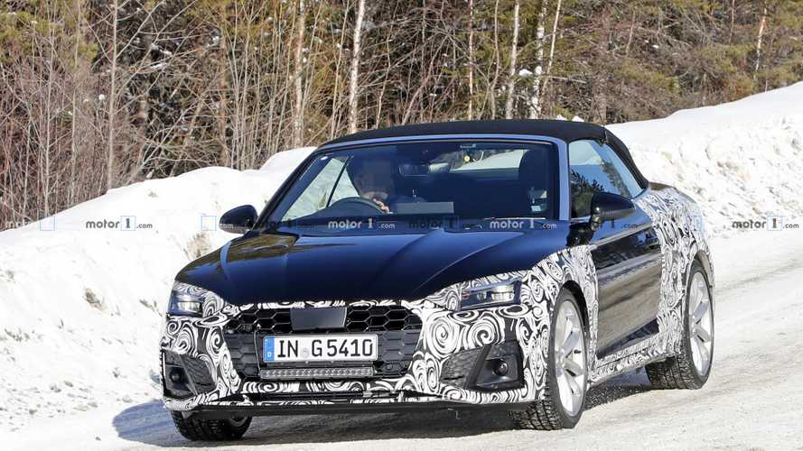 Audi A5 Convertible facelift first spy photos