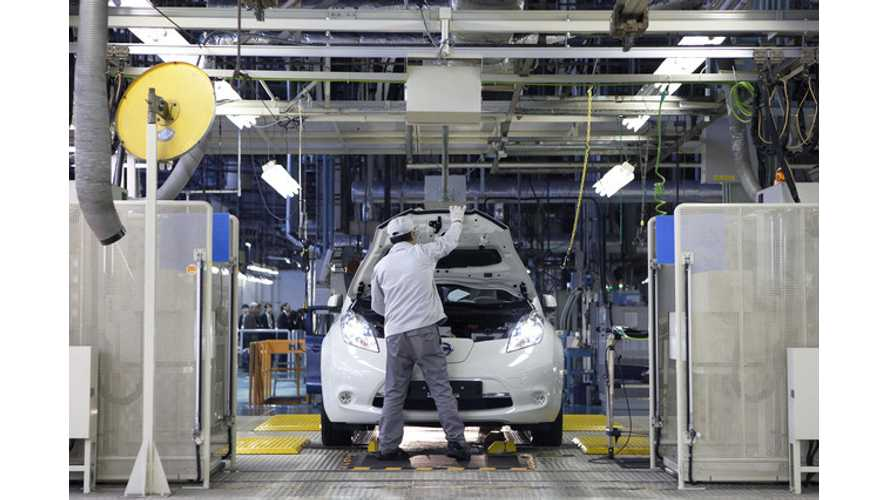 US Nissan LEAF Battery Production Underway For 2013 LEAF, Sales Begin First Quarter of 2013