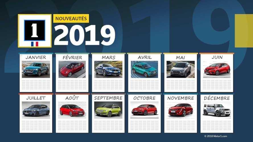 Le calendrier des nouveautés automobiles 2019