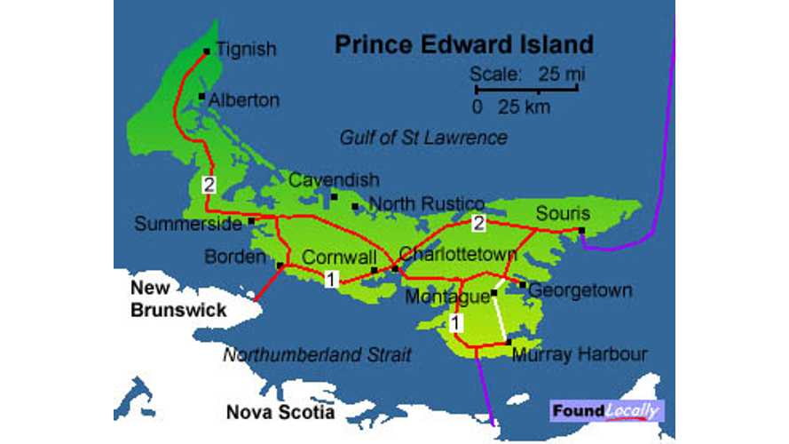 Prince Edward Island to Install 40 Public Chargers