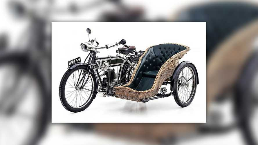 Gorgeous Antique Singer Motorcycle With Sidecar