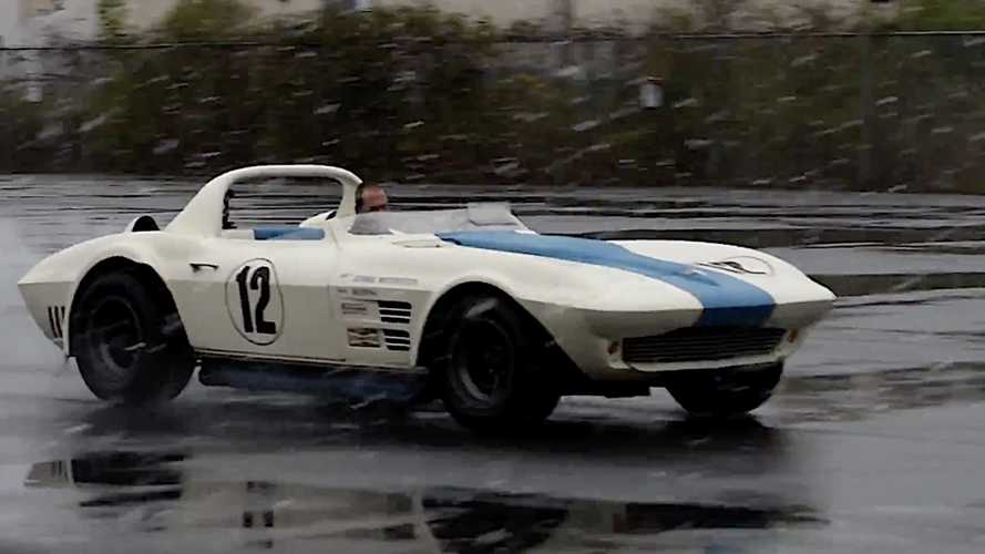 Watch A $10 Million '63 Corvette Grand Sport Play In The Snow