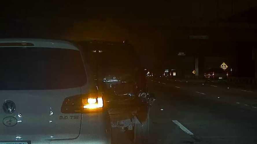 Teslacam Dashcam Captures Tesla Model 3 Barely Avoiding Crash