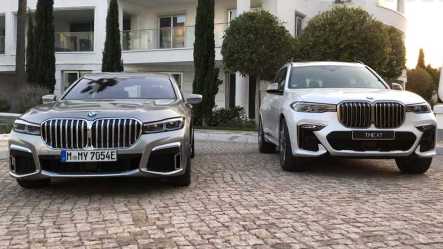 Which BMW wears the giant grille better: 7 Series or X7?