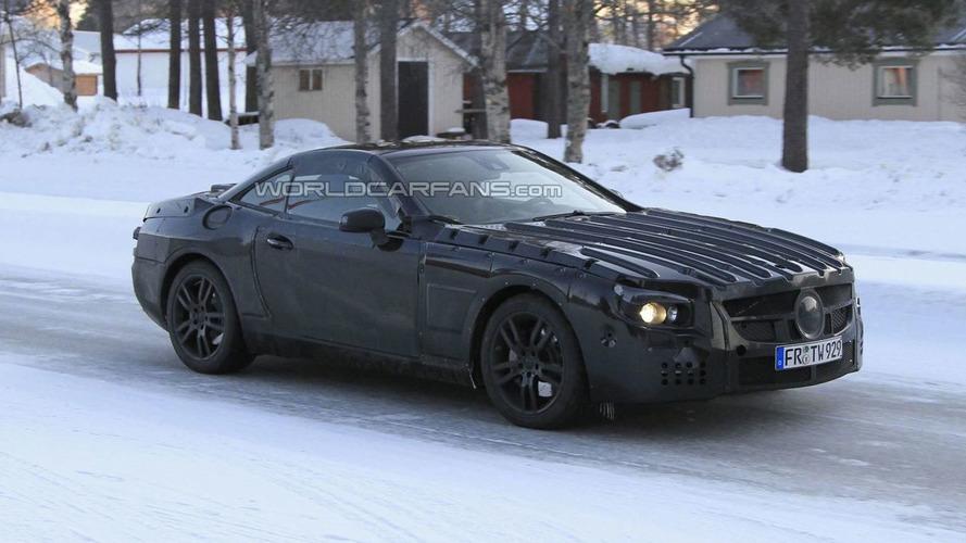 2013 Mercedes-Benz SL-Class Prototype Caught Testing Near Arctic Circle