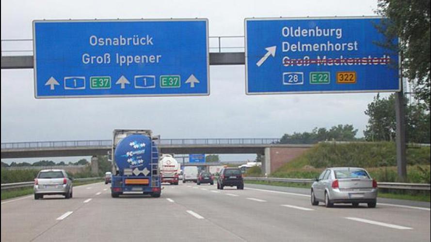 Autostrade a pagamento anche in Germania