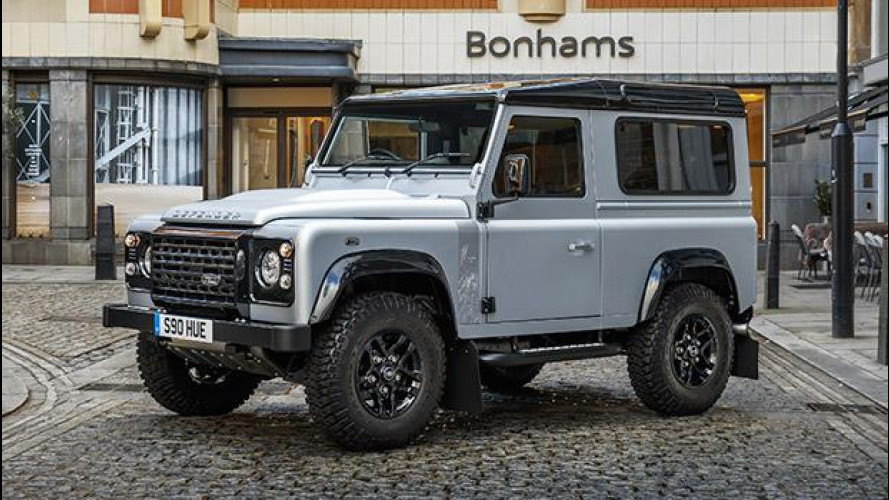 Land Rover Defender, la duemilionesima all'asta per beneficenza