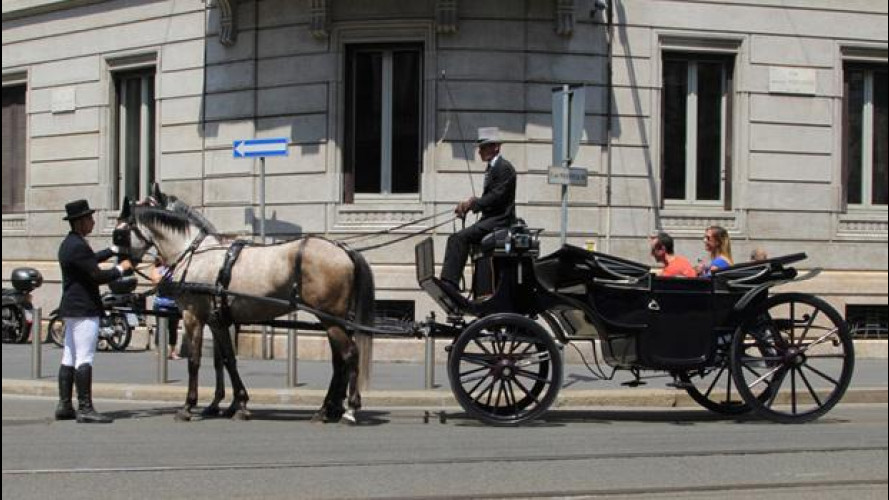 In città in carrozza, l'ultima provocazione di Uber