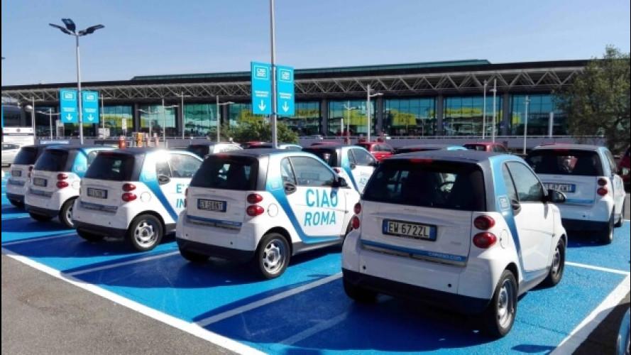car2go ed Enjoy arrivano all'aeroporto di Fiumicino