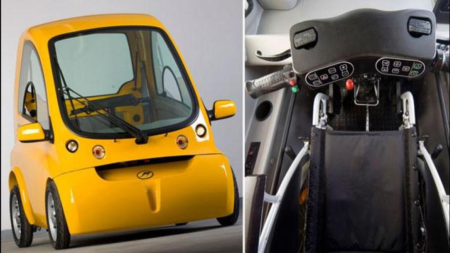 Negli USA l'auto elettrica si trasforma per chi è sulla sua sedia a rotelle