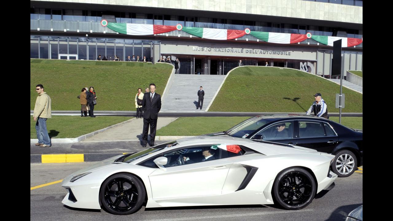 Una Lamborghini Aventador special guest... a Torino