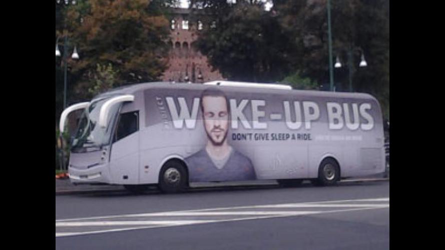 Sicurezza stradale, a Milano è arrivato il Wake Up Bus