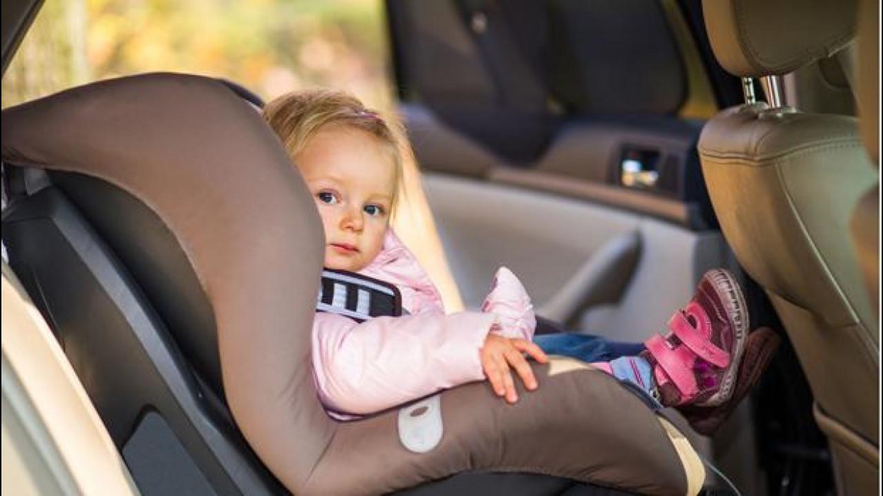 [Copertina] - Sicurezza dei bambini in auto, norme e dispositivi