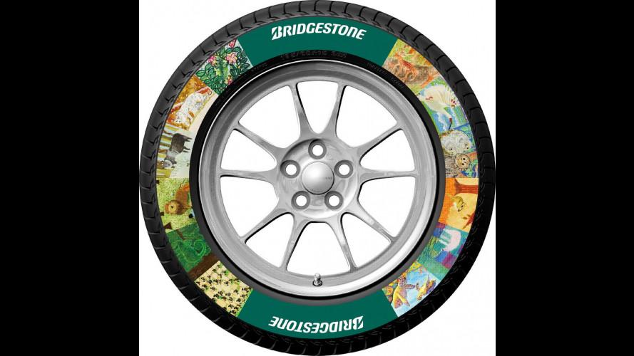 Bridgestone mette la pubblicità sugli pneumatici
